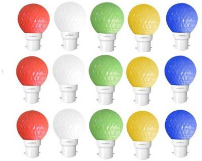 Jasco-0.5W-LED-Bulb-(Pack-of-15)(Red,-Blue,-Yellow,-Green-&-White)