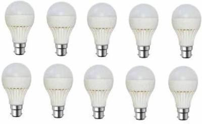 Kalash-Gold-9W-Plastic-Body-Warm-White-LED-Bulb-(Pack-Of-10)