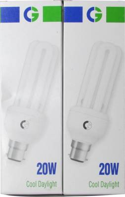 Crompton Greaves 20 Watt 3U CFL Bulb (Cool Day Light,Pack of 2) Image