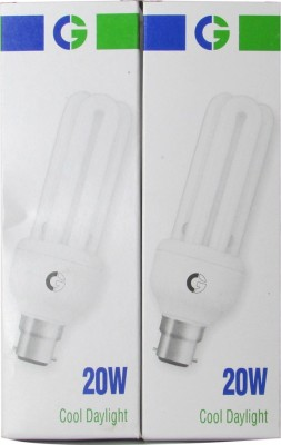 Crompton Greaves 20 W CFL Bulb(White, Pack of 2)  available at flipkart for Rs.390