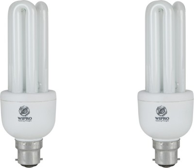 Wipro 20 W B22 CFL Bulb(White, Pack of 2)  available at flipkart for Rs.410