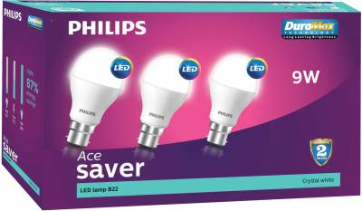 9-W-LED-B22-Cool-Day-Light-Bulb-White-(pack-of-3)