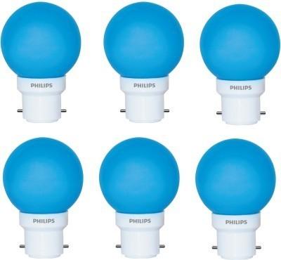 Philips-0.5-Watt-B22-Blue-LED-Bulb-(Pack-of-6)