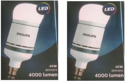 Philips 40 W Standard B22 LED Bulb(White, Pack of 2) at flipkart