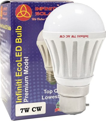 Infiniti-Eco-B22-7W-LED-Bulb-(Cool-White,-Pack-of-3)