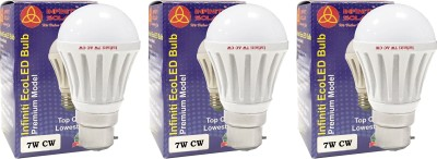 Eco-B22-7W-LED-Bulb-(Cool-White,-Pack-of-3)-