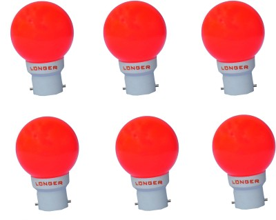 Longer-0.5-W-Deco-Eco-LED-Bulb-B22-Red-(pack-of-6)