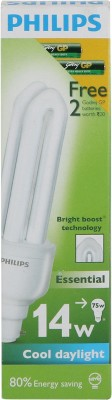 Essential-14-Watts-CFL-Bulb-(White)