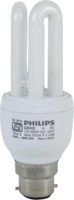 Genie-11-Watt-CFL-Bulb-(White,Pack-of-4)
