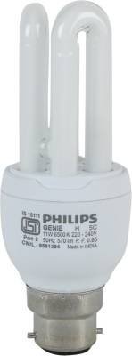 Philips Genie 11 W 3U CFL Bulb (Cool Day Light) Image