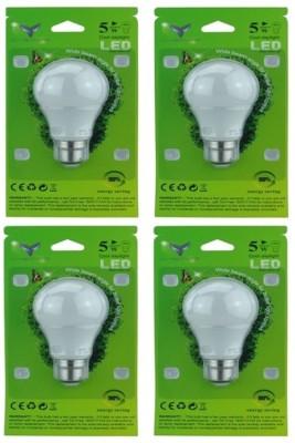 Chemox-5W-B22-LED-Bulb-(White,-Pack-Of-4)