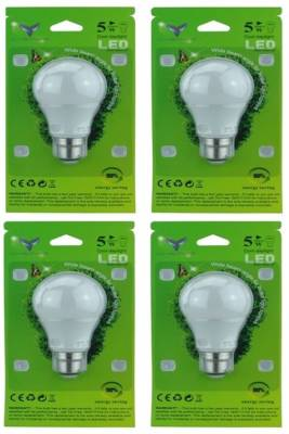 Chemox-5W-B22-LED-Bulb-(White,-Pack-Of-4)