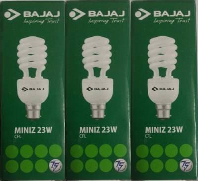 Bajaj-23W-Spiral-Miniz-CFL-Bulb-(White,-Pack-of-3)