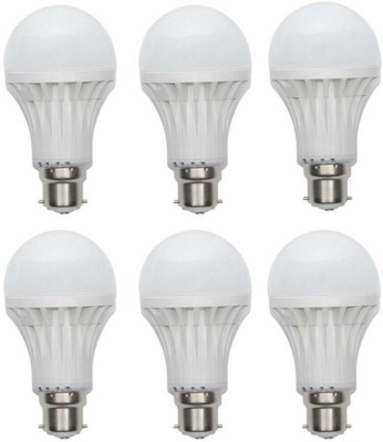 Vglit-3W-B22-LED-Bulb-(White,-Set-of-6)