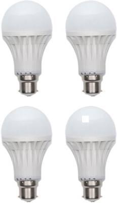 Gold-5W-Plastic-Body-Warm-White-LED-Bulb-(Pack-Of-4)