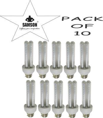 Samson 6W LED 2U Clear B22 CFL Bulb (Warm White, Pack of 10) Image