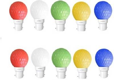 Jasco-0.5W-LED-Bulb-(Multicolor,-Pack-Of-10)