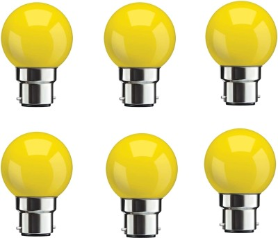0.5W-Yellow-LED-Bulbs-(Pack-Of-6)-