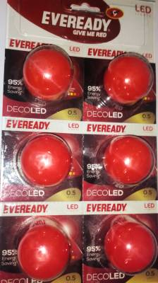Eveready-0.5W-B22-LED-Bulb-(Red,-Pack-of-6)