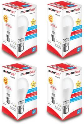 Moserbaer-12W-B22-LED-Bulb-(Cool-Day-Light,-Pack-of-4)