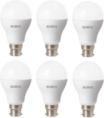 Surya 9 W Standard B22 LED Bulb(White, Pack of 6) at flipkart