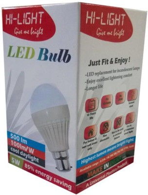 Hi-Light-5W-B22-LED-Bulb-(White)