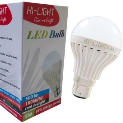 Hi-Light-5W-B22-LED-Bulb-(White,-Set-of-3)