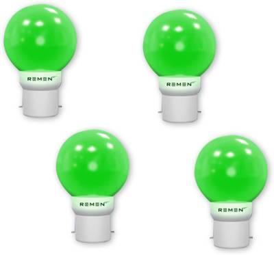 REMEN-0.5W-B22-LED-Bulb-(Green,-Pack-of-4)