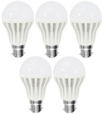 Listers 12 W B22 LED Bulb(White, Pack of 5)