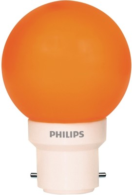 Philips-0.5-W-LED-Deco-B22-IND-Bulb-Orange-(pack-of-6)