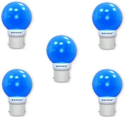 REMEN-0.5W-B22-LED-Bulb-(Blue,-Pack-of-5)