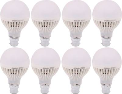 Swarn-9-W-B22-LED-Bulb-(White,-Pack-of-8)