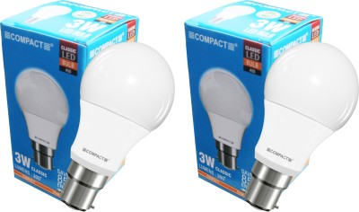 Compact-3W-B22-LED-Bulb-(Cool-White,-Pack-of-2)