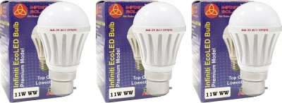 Eco-B22-11W-LED-Bulb-(Warm-White,-Pack-of-3)
