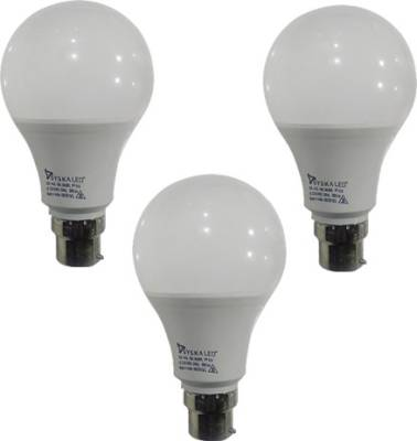 9-W-Plastic-B-22-LED-Bulbs-(Cool-Day-Light,-Pack-of-3)