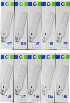 Crompton Greaves 15 W 2U CFL Bulb (Cool Daylight, Pack of 10) Image