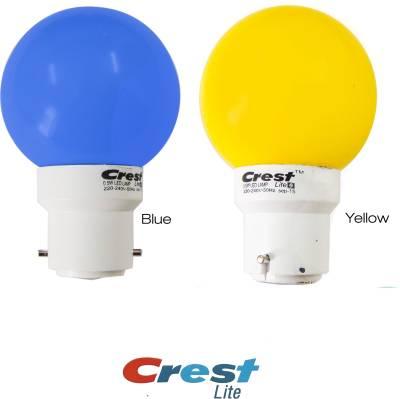 0.5W-B22-LED-Bulb-(Blue,-Yellow,-Pack-of-2)