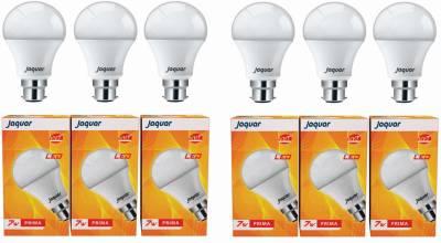 Jaquar-7W-Prima-B22-LED-Bulb-(White,-Pack-of-6)