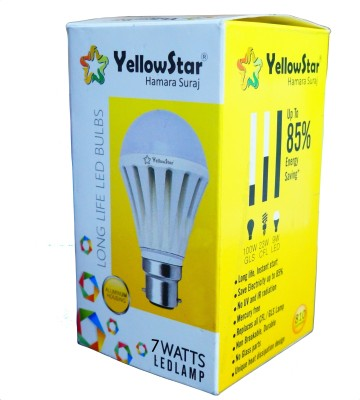 Yellowstar-7W-B22-LED-Bulb-(Pack-of-6)