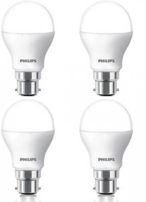 Philips 7W B22 600L LED Bulb (White, Pack Of 4) Image