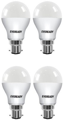 Eveready-12W-LED-Bulb-(Cool-Daylight,-Pack-of-4)-With-Free-8-Batteries-Combo