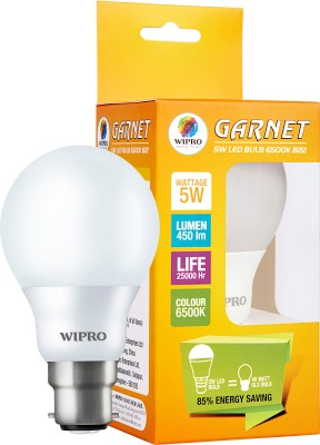 Wipro-5-W-Garnet-LED-N50001-6500K-Cool-DayLight-Bulb-B22-White