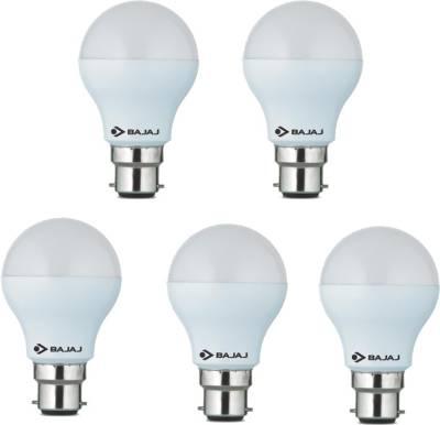 Bajaj 5W White LED Bulb(Pack Of 5) Image