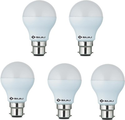 Bajaj 7 W Standard B22 LED Bulb(White, Pack of 5)