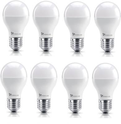 Syska 5W E27 Round LED Bulb (Yellow, Pack of 8) Image