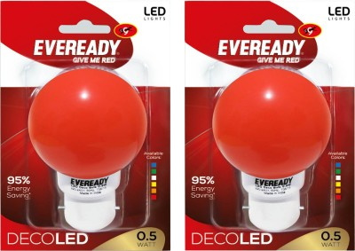 Eveready-0.5W-Deco-UP-LED-Bulb-(Red,-Pack-of-2)