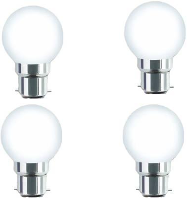 0.5W-B22-Warm-White-LED-Bulb-(Plastic,-Pack-of-4)