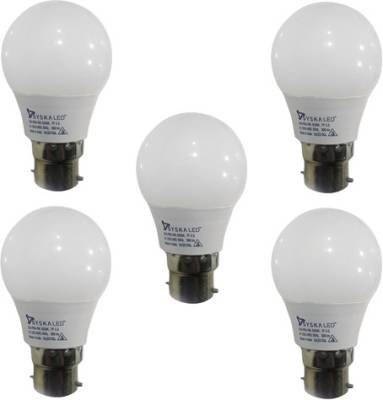 3-W-B22-QA0301-LED-Bulb-(White,-Pack-of-5)