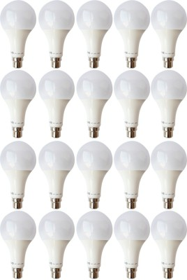 Vivid-9W-B22-LED-Bulb-(White,-Set-of-20)