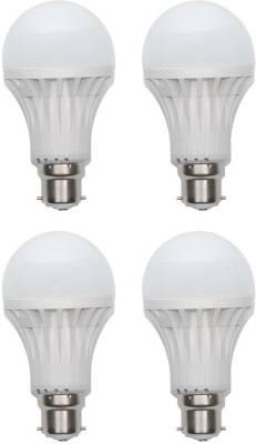 Gold-7W-Plastic-Body-LED-Bulb-(Warm-White,-Pack-of-4)-